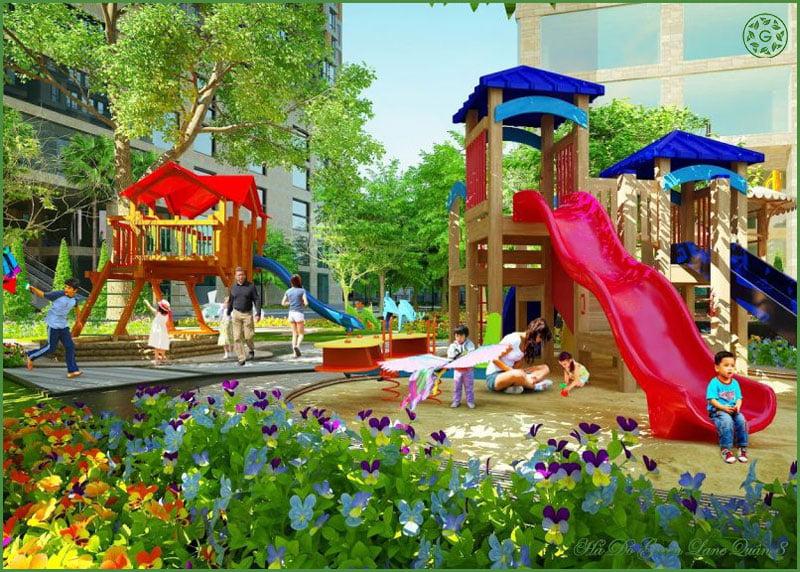 Khu vui chơi trẻ e tại Hado Green Lane Phạm Thế Hiển Quận 8.